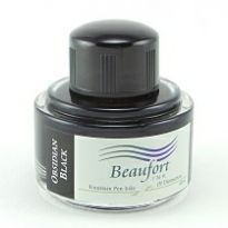 Obsidian Black - Beaufort fountain pen ink. 45ml
